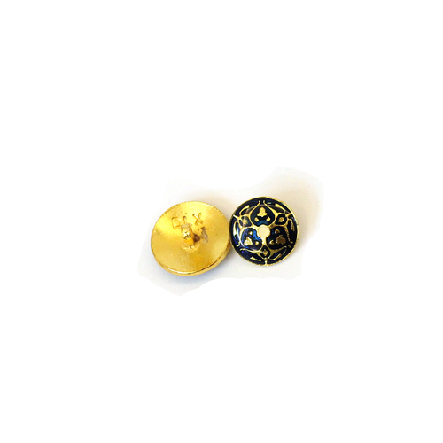 brass metal enamel button