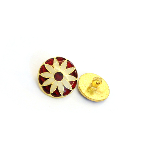 brass metal enmale button