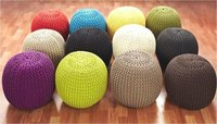 Majestic Knitted Round Pouf