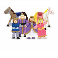 Royal Family Wooden Poseable Doll Set