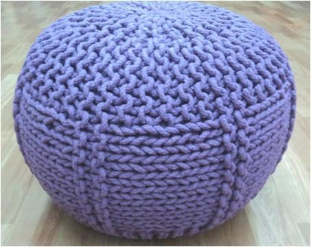 Woolen Pouf