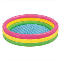 Blow Up Inflatable Baby Pool with Two Air Nozzles