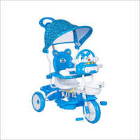Kids Tricycle With Printed Canopy Bunny