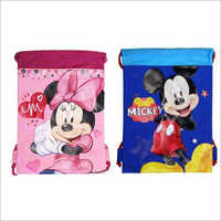 Mickey And Minnie Drawstring Bag