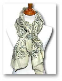 Floral Printed Wool Scarves