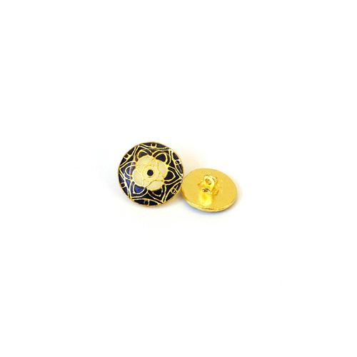 metal brass enamel buttons