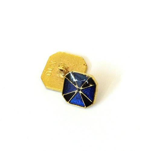 Enamel brass button