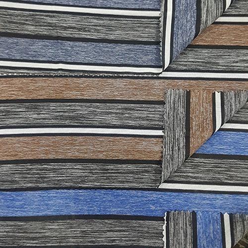 Single Jersey Auto Stripe Knitted Fabric