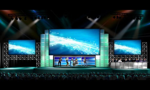 Stage LED Video Background Wall For Concert -Wedding