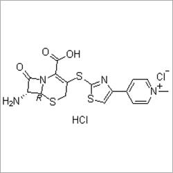 7R)-7-Amino-2-Carboxy-8-Oxo-5-Thia-1-Azabicyclo[4.2.0]oct-2-en-3-yl]Thio]-4-Thiazolyl]-1-Methyl-Pyridinium Chloride Monohydrochloride