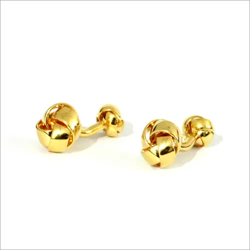Golden Metal Fancy Cufflinks