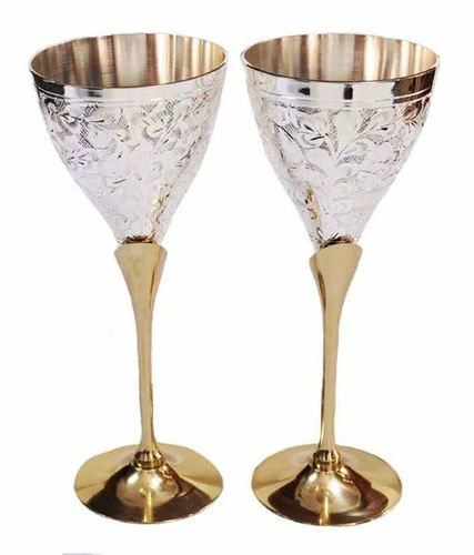Luxotic Homes Decorative Wine Brass Goblet