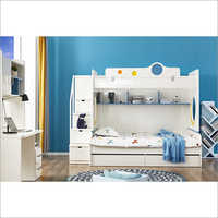 White Color Kids Bunk Bed