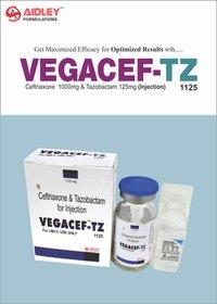 Ceftriaxone 1gm +Tazobactam 125mg Injection