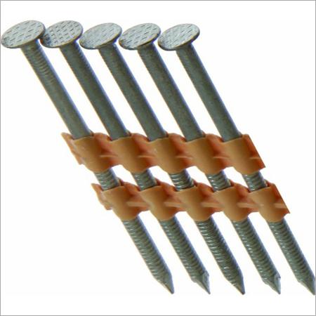 "Galvanized Ring Shank Framing Nails-0.120"""