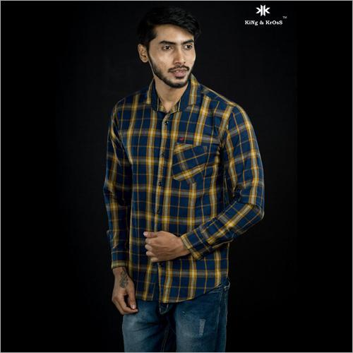 Mens Formal Checked Shirt