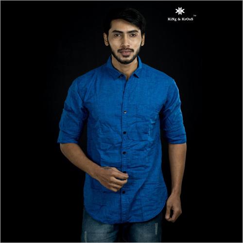 Cotton Casual Plain Shirt