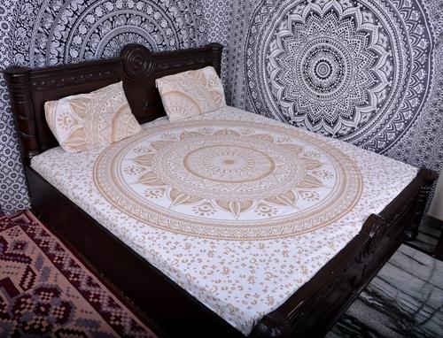 Indian Mandala Gold Ombre Hippie Duvet Covers