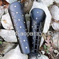 NauticalMart Medieval Heavy Grade Leather Greaves