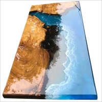 Wooden Epoxy Resin River Design Table Top