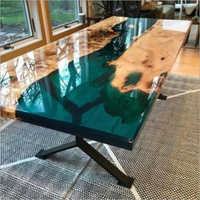 Epoxy Resin Design Rectangular Table Top