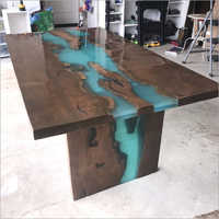 Epoxy Resin River Design Table Top