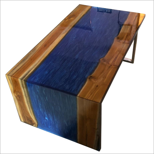Solid Wood Epoxy Resin River Design Table Top