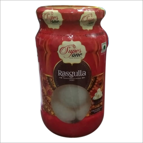 500 gms Glass jar Rasgulla