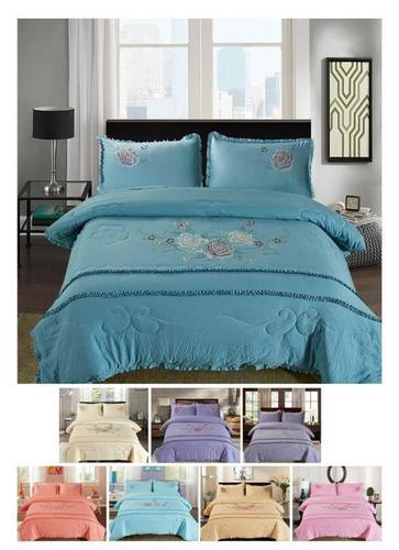 4pcs Embroidered Comforter Set,