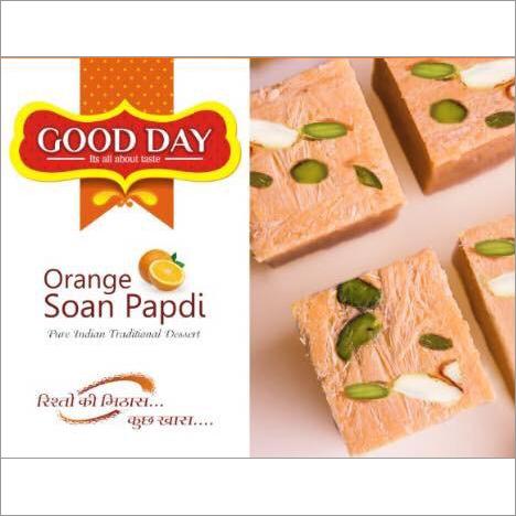 200 gms Orange Soan Papdi