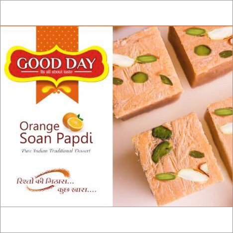 200 gms Orange Soan Papdi