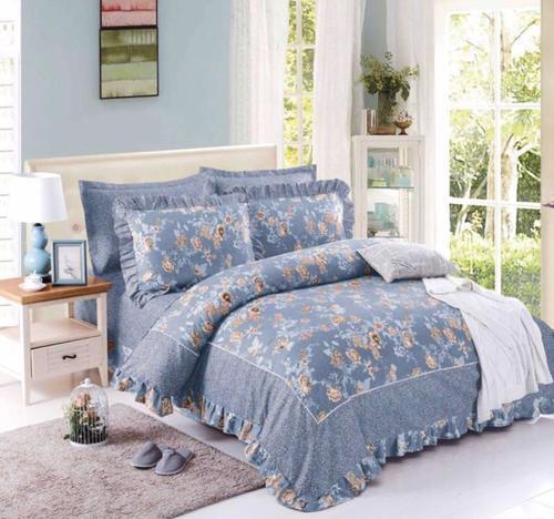 3 Pcs Frilled Bedsheet