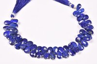 Lapis Lazuli Pears Faceted Beads
