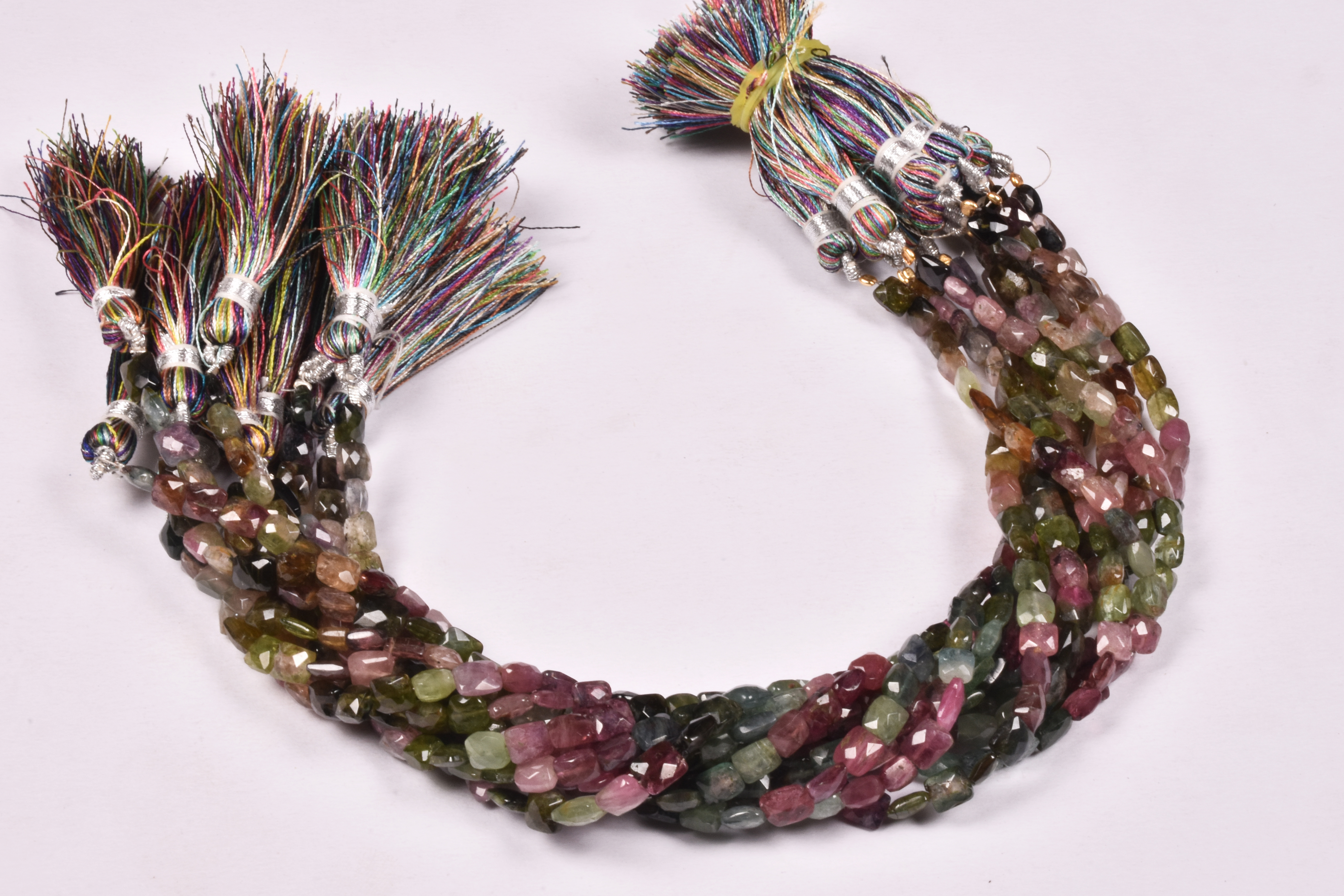 Tourmaline Chicklet Beads