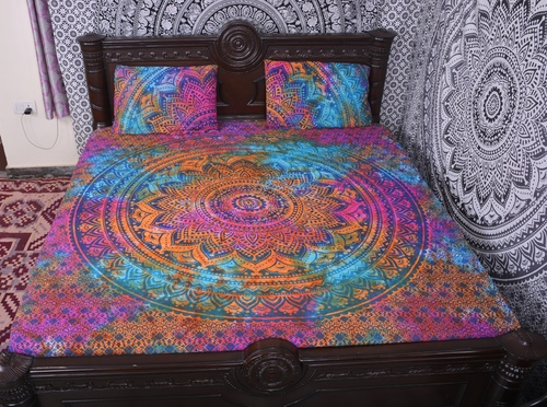 Indian Mandala Cotton Multicolour Duvet Cover