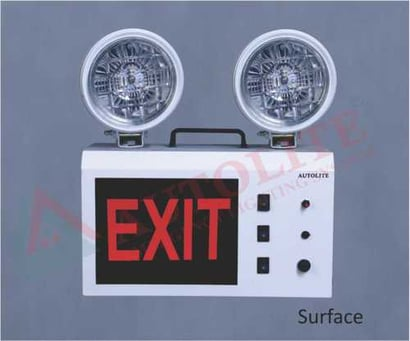 Portable Non- Maintained Multi Lights Body Material: Metal Sheet