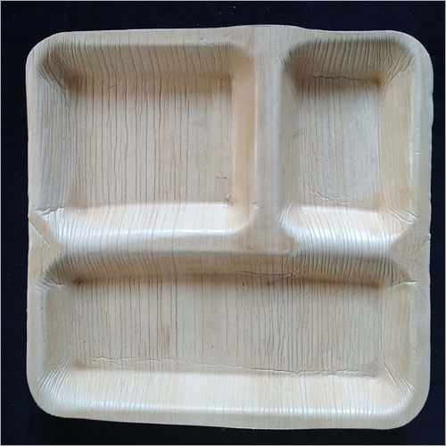 3 Compartment Square Plate