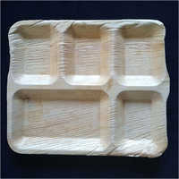 5 Compartment Square Plate