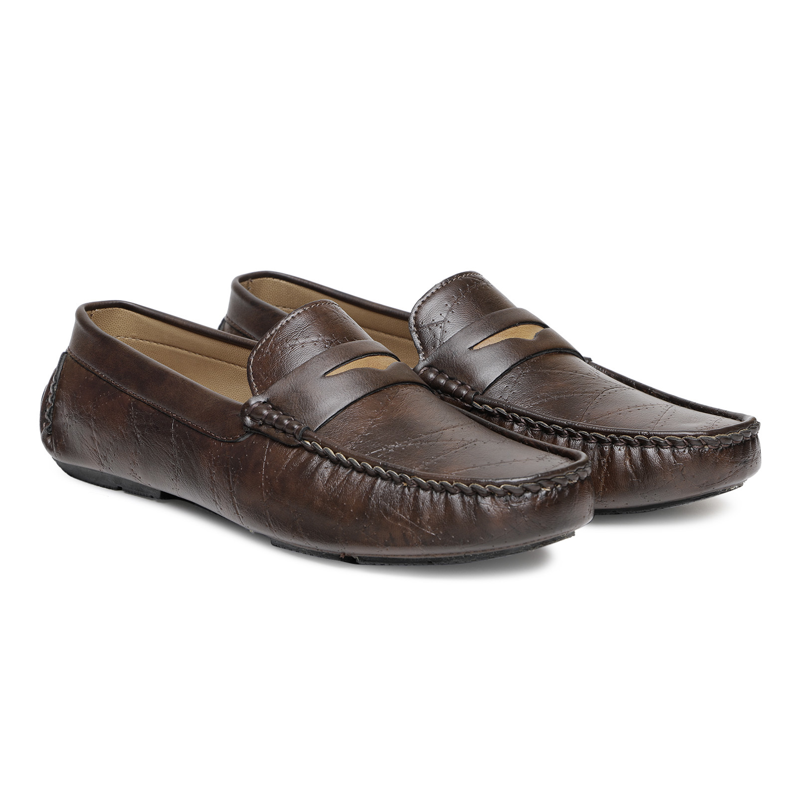 Mens Brown Loafer Shoes
