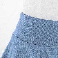 Women's Polyester Spandex Lycra High Waist Flared Knit Skater Short Mini Skirt
