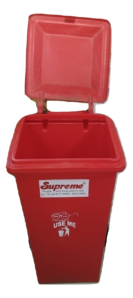 Bauzooka Plastic Dustbin 90 Ltr With Lid
