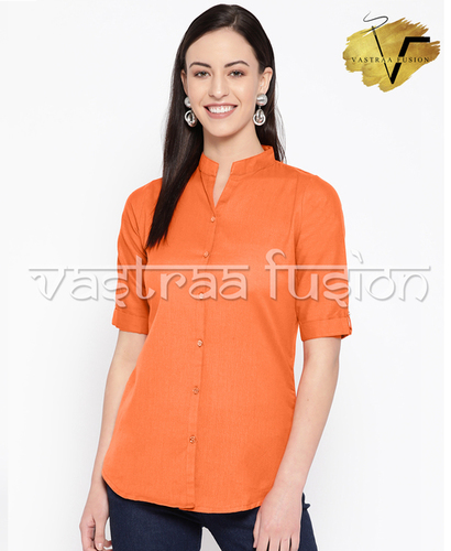Ladies Solid Colour Regular Top Or Shirt