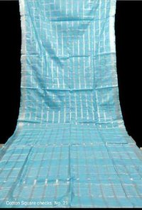 Cotton Square Check Sarees
