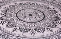 Indian Mandala Blue Flower Cotton Duvet Cover