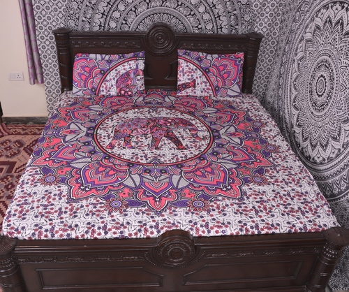 Indian Mandala Elephant Cotton Duvet Cover