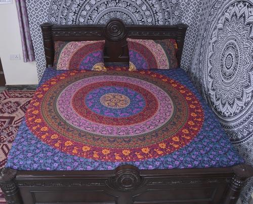 Indian Mandala Multicolours Circle Cotton Duvet Cover