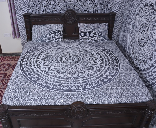Indian Mandala Salte Round Cotton Duvet Cover