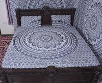 Indian Mandala Salte Round Cotton Duvet Cover