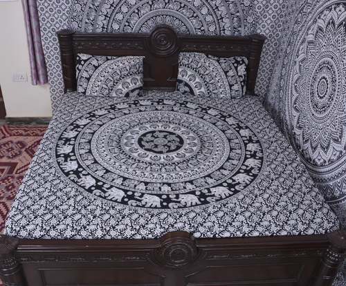 Indian Mandala Black Cotton Duvet Cover