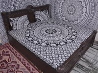 Indian Mandala Black Cotton Duvet Cover